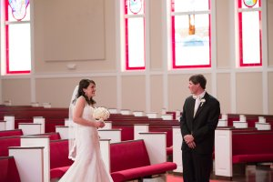 We had our first look in the sanctuary of the church. Very special moment.